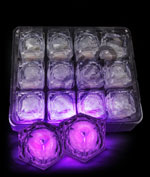 LED Light Up Ice Cubes - Purple
