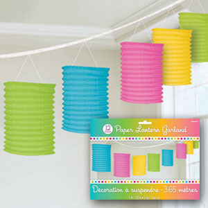Multicolored Lantern Garlands- 12ft