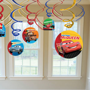 Cars 2 Swirls with Cutouts