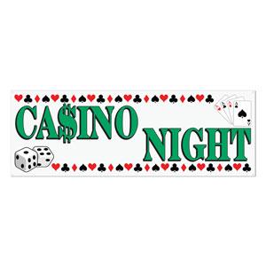 Casino Night Sign Banner- 5ft