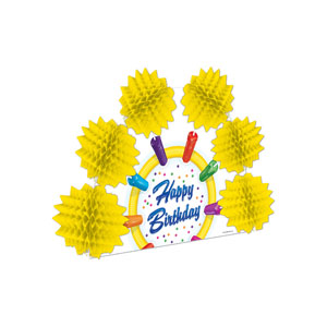 Happy Birthday Popover Centerpiece 2 - 10 inches