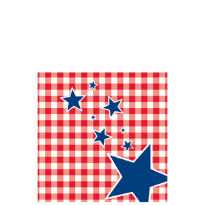 Patriotic Picnic Beverage Napkins - 16ct