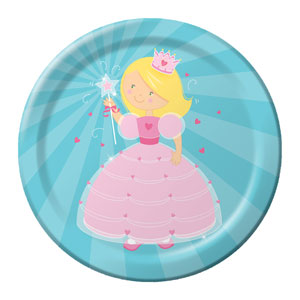 Fairytale Princess 9 Inch Plates- 8ct