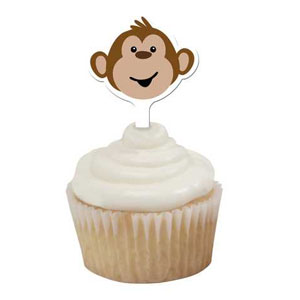 Monkeyin Around Cupcake Picks- 12ct