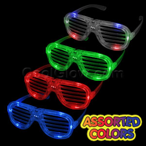 Fun Central T001 LED Light Up Slotted Shades - Assorted