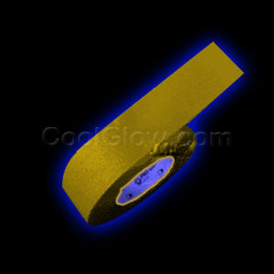 2 Inch 50 Yard Blacklight Reactive Gaffer Tape - Yellow