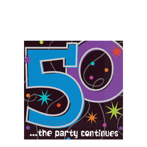 The Party Continues - 50 Luncheon Napkins- 16ct