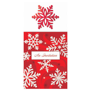 Red Elegant Long Invitations - 8ct