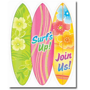 Surf's Up Invitations- 50ct