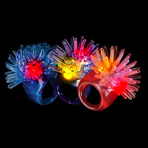 LED Jelly Porcupine Rings - Assorted Colors