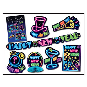 Neon New Year Decorama - 7ct