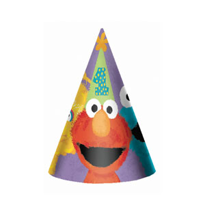 Sesame Street 1st Birthday Party Hats - 8ct