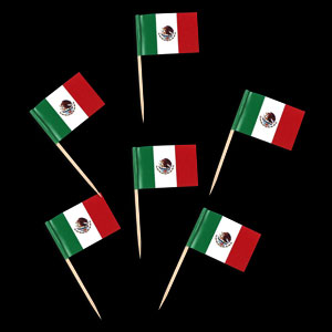 Mexican Flag Toothpick