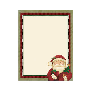 Cozy Santa Printable Invitations- 25ct