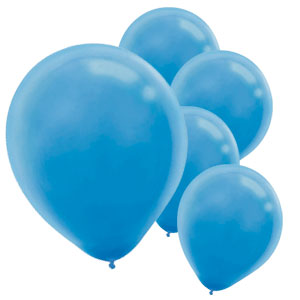 Powder Blue Latex Balloons- 15ct