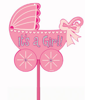 glitter baby girl yard sign coolglow com