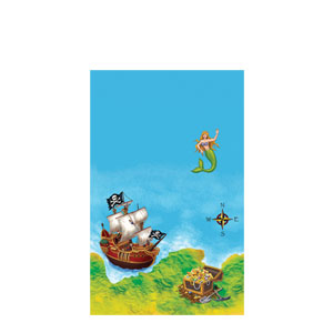 Buried Treasure Plastic Tablecover- 108 Inch