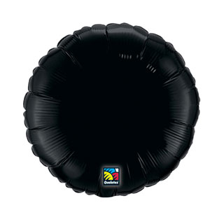 18 Inch Round Metallic Balloon- Onyx Black