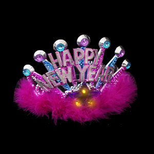 LED Happy New Year Tiara