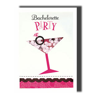 Bachelorette Party Shaker Invitations- 8ct
