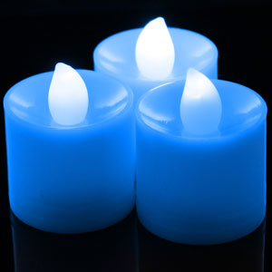LED Tea Light Candles Blue