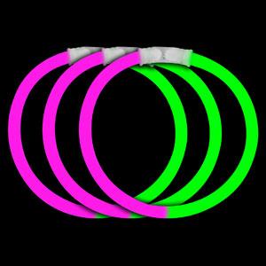 8 Inch Glow Bracelets - Pink-Green