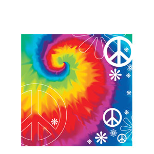 Tie Dye Luncheon Napkins- 18ct