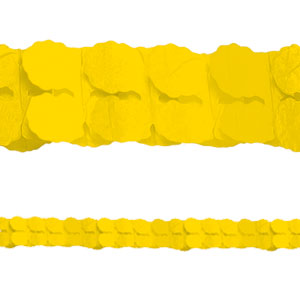 Yellow Paper Garlands- 12ft