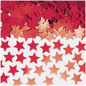 Red Stardust Confetti- .5oz.