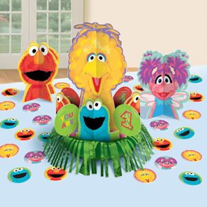 Sesame Street 1st Birthday Table Kit - Value