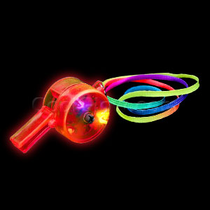 Fun Central I488 LED Light Up Drum Whistles - Red