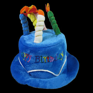 Birthday Candles Hat - Blue