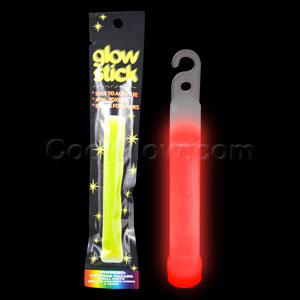 4 Inch Retail Packaged Glow Stick - Red