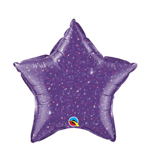 Purple Crystalgraphic Star Balloon - 20 inch