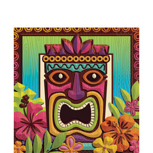 Tropical Tiki Luncheon Napkins- 125ct