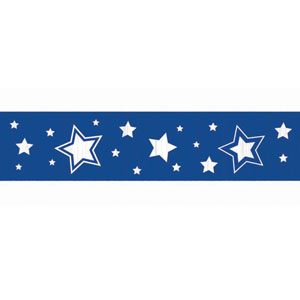 Royal Blue Stars Crepe Paper - 81ft