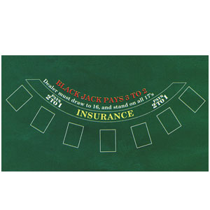 Black Jack Felt Game Board- 72in