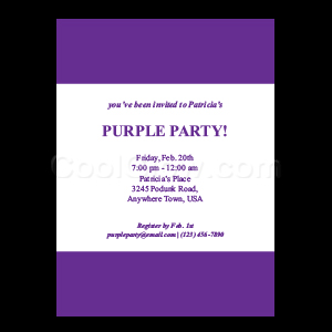 Purple - Custom Invitations