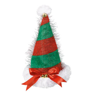 Striped Bell Santa Hat- 16 Inch