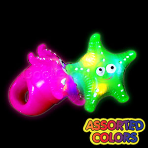 LED Jelly Starfish Rings - Assorted