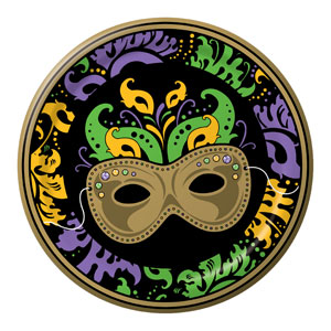 Mardi Gras Magic 9 Inch Plates