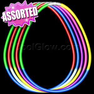 Fun Central I39 22 Inch Premium Glow in the Dark Necklaces - Assorted Tricolor