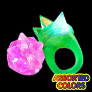 LED Jelly Spike Rings - Assorted