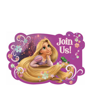 Disney Tangled Invitations- 8ct