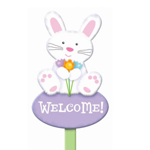Wooden Bunny Yard Sign
