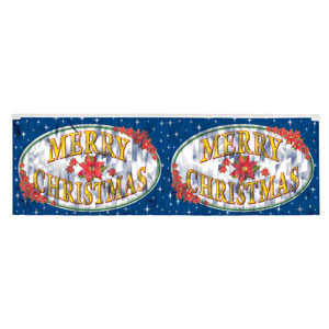 Fringed Merry Christmas Banner - 4ft