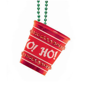 Christmas Shot Glass Necklace- 20 Inch