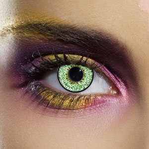 Novelty Contact Lenses - Green 3 Tone