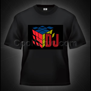 LED Sound Activated T-Shirt - DJ Cube