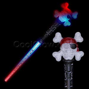 LED Pirate Skull Sword